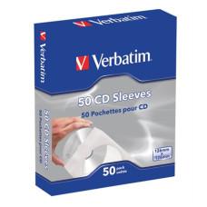 VERBATIM CD/DVD boríték, papír, ablakos, öntapadó füllel, VERBATIM, fehér