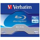 BD-R BluRay lemez, kétrétegű, 50GB, 6x, normál tok, VERBATIM