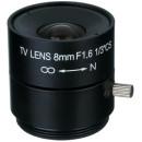 FEIHUA FH-0816F 8mm, 40.7°, F/1.6, 1/3 col, fix írisz, CS.