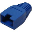 Törésgátló 8P8C UTP és FTP dugaszhoz, takaró füles, kék.