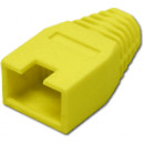 Törésgátló 8P8C UTP és FTP dugaszhoz, kivágott füles, sárga.