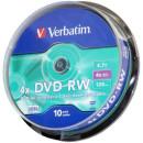DVD-RW Verbatim 4,7Gb 4x 10db/henger