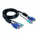CPU Switch KVM 3m HD15p-15p+2xPS2