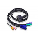 ATEN konzol kábel KVM CS428-hoz PS/2
