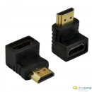 AKYGA Adapter AK-AD-01 HDMI-M/HDMI-F 90° Product type Adapter, The cable plug #1Male connector HDMI, The cable plug #2Female connector HDMI Version High Speed with Ethernet (ver. 1.4) gold plated plugs, color Black AK-AD-01