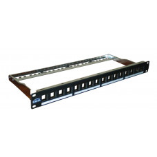 "Excel Patch panel UTP 24 PORT 19"" 1U fekete moduláris 100-028"