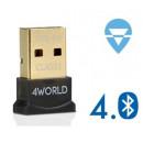 4World Bluetooth MICRO adapter USB 2.0, Class 1, version 4.0 Vista 10242