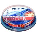 DVD lemez Philips 8,5GB +R DualLayer 10lemez/henger