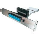 ASSMANN LPT Adapter Cable DSUB25 F (jack)/IDC (26pin) F (jack) 0,25m grey AK-580300-003-E