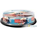 Philips DVD+R 8.5GB 8X Doublelayer DVD lemez hengeres 10db/cs