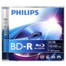 Philips BD-R25 25GB 6x normál tokos  Bluray lemez