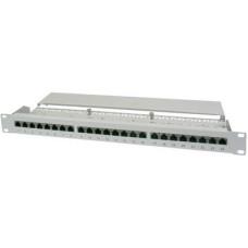 """19"""" Rack szekrénybe építhető 24 portos switch, RJ45 CAT 5e elosztó patchpanel Digitus DN-91524S 1 HE"""