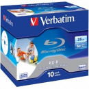 BluRay BD-R Verbatim [ jewel case 10   25GB   6x   PRINTABLE SURFACE HARD COAT ] 43713