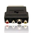 Gembird Adapter SCART -- 3x RCA + 1 S-Video /CCV-4415/