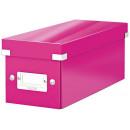 """LEITZ DVD tároló doboz, lakkfényű, LEITZ """"Click&Store"""", rózsaszín"""
