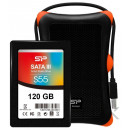 """Silicon Power 2,5"""" SATA SSD 128GB S55 Shockproof"""