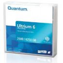 Quantum data cartridge, LTO Ultrium 6 (LTO-6), non-labeled MR-L6MQN-03