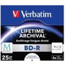 BluRay M-DISC BD-R Verbatim [ 25GB   4x   Inkjet Printable ] 43823