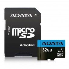 ADATA Premier 32GB MicroSDHC/SDXC UHS-I Class 10 with Adapte Up To 85MB/s AUSDH32GUICL10A1-RA1
