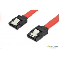 Ednet SATA csatlakozó kábel 0.3m, SATA II/III, piros /84140/