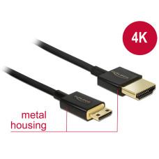 Delock Nagysebességu HDMI-kábel Ethernettel - HDMI-A-csatlakozódugó > HDMI Mini-C-csatlakozódugó, 3D 84780
