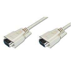 Cable VGA 1080p 60Hz FHD Type DSUB15/DSUB15 M/M grey 3,0m AK-310100-030-S