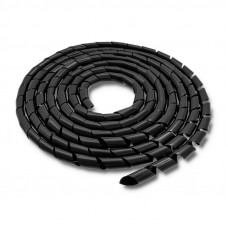 Qoltec Kábelszervező 14mm | 10m | fekete 52254