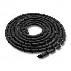 Qoltec Kábelszervező 16mm   10m   fekete 52255