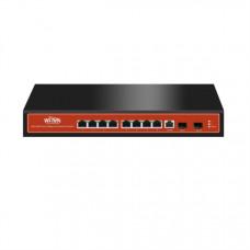 WI-TEK PoE Switch 8 Port Full Gigabit L2 menedzselhető WI-PMS310GF WI-PMS310GF