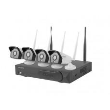 Lanberg monitoring WIFI NVR 4 Channels  + 4 Cameras 2MP ICS-0404-0020