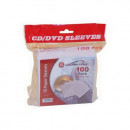 DVD PapírTok ablakos fehér 100db/csomag