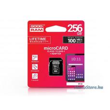 Goodram 256 GB microSDXC™ UHS-I U1 Class 10 memóriakártya 100/10 + SD adapter GR-036