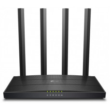 TP-LINK Wireless Router Dual Band AC1200 1xWAN(1000Mbps) + 4xLAN(1000Mbps) + 1xUSB, Archer C6U ARCHER C6U