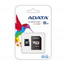 ADATA 8GB SDHC micro memória kártya Class 4 + adapter (AUSDH8GCL4-RA1)